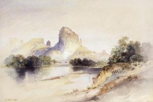 Castle Butte, Green River, Wyoming, 1894 by Thomas Moran