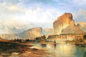 Cliffs of Green River by Thomas Moran