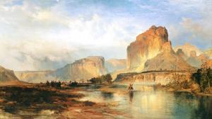 Cliffs of the Green River by Thomas Moran
