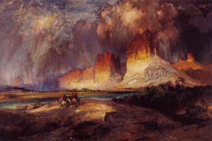 Cliffs of Upper Colorado River by Thomas Moran