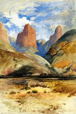 Colburn's Butte, South Utah, 1873 by Thomas Moran