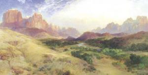 Entering the Canyon by Thomas Moran