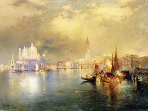 Moonlight in Venice by Thomas Moran
