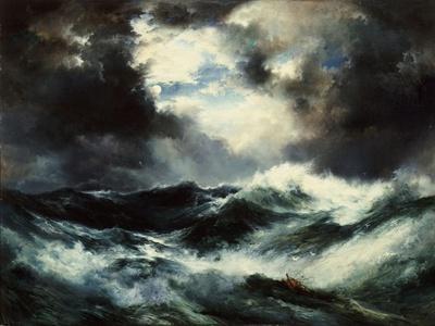 Moonlit Shipwreck at Sea Thomas Moran (1837-1926), 1901