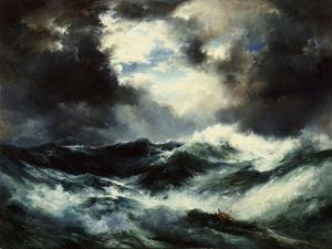 Moonlit Shipwreck at Sea Thomas Moran (1837-1926), 1901 by Thomas Moran