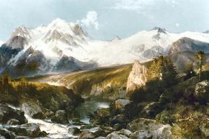 Moran: Teton Range, 1897 by Thomas Moran