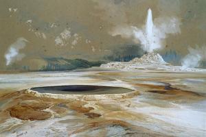 Morning Glory Pool, 1873 by Thomas Moran