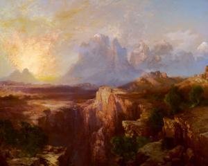Rock Towers of the Rio Virgin by Thomas Moran