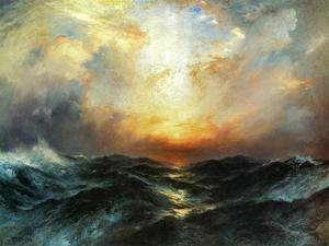 Seascape by Thomas Moran