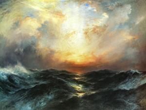 Seascape by Thomas Moran