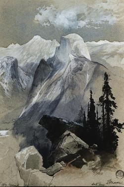 South Dome Yosemite by Thomas Moran