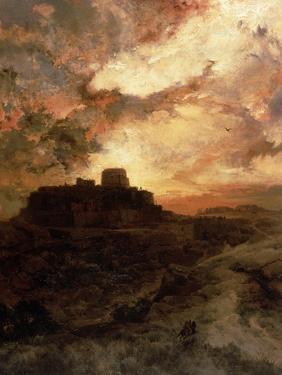 Sunset, Pueblo Del Walpe, Arizona, 1880 by Thomas Moran