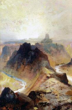 The Grand Canyon, Utah, 1874 (Oil on Paper) by Thomas Moran