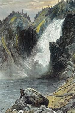 The Upper Yellowstone Falls by Thomas Moran