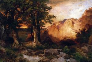 Western Sunset, 1897 by Thomas Moran