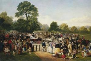 Hyde Park, London, England, Entrance of Queen Victoria by Thomas Musgrave Joy