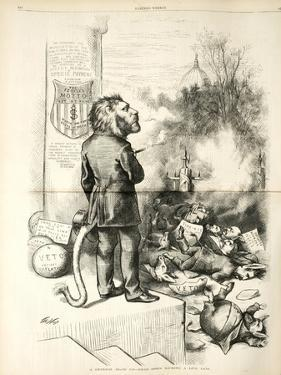 A General Blow Up - Dead Asses Kicking a Live Lion, 1874 by Thomas Nast