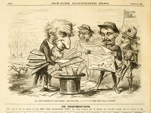 Aid and Comfort to the Enemy. - the Way Mr. J.G. B*****T Does the Loyal Business, 1862 by Thomas Nast