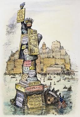 Anti-Trust Cartoon, 1889 by Thomas Nast
