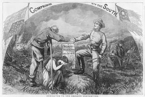 Compromise with the South - Dedicated to the Chicago Convention, 1864 by Thomas Nast