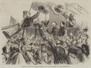Garibaldi's Entry into Naples, a Sketch in the Strada Di Toledo by Thomas Nast