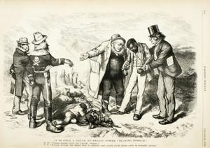 It Is Only a Truce to Regain Power/ Playing Possum, 1872 by Thomas Nast