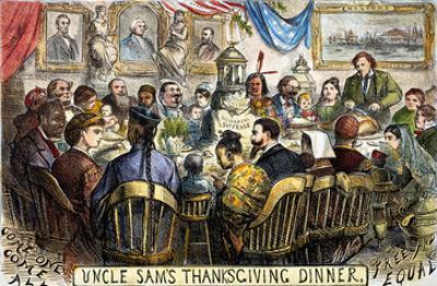 Thanksgiving Cartoon, 1869 by Thomas Nast
