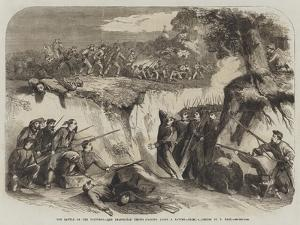 The Battle on the Volturno, the Neapolitan Troops Passing Along a Ravine by Thomas Nast
