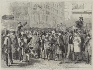 The Crowd at Baltimore Waiting for Mr Lincoln, President of the United States by Thomas Nast