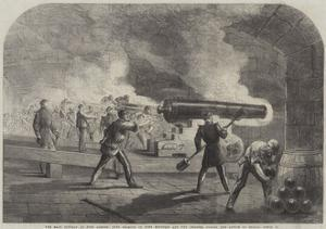 The Main Battery at Fort Sumter by Thomas Nast