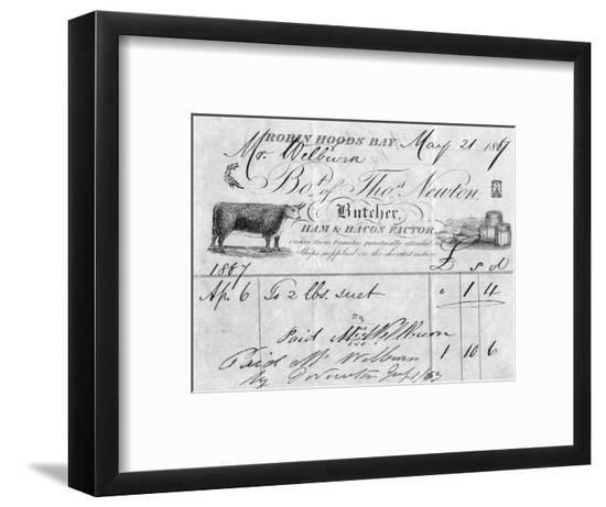 Thomas Newton, Butcher--Framed Giclee Print