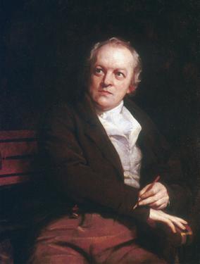 William Blake, English mystic, poet, artist and engraver, 1807. Artist: Thomas Phillips by Thomas Phillips