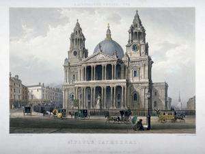 St Paul's Cathedral, City of London, 1851 by Thomas Picken