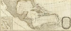 New Map of North America, with the West India Islands (Southern section), c.1786 by Thomas Pownall