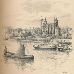 The Tower of London from Tower Bridge., 1902 by Thomas Robert Way