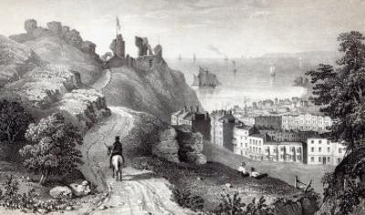 Hastings Castle from the Revd W. Wallinger's Plantation, engraved by R. Martin
