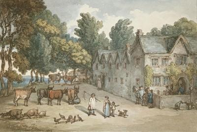 A Farmhouse at Hengar, Cornwall, 1803 by Thomas Rowlandson