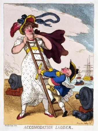 Accommodation Ladder, 1811 by Thomas Rowlandson