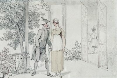Amorous Attentions, C.1800 by Thomas Rowlandson