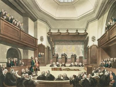 Court of Common Pleas, Westminster Hall, from The Microcosm of London, Engraved by J. C. Stadler by Thomas Rowlandson