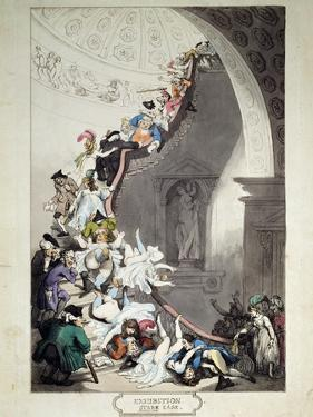 Exhibition Stare Case, 1811 by Thomas Rowlandson