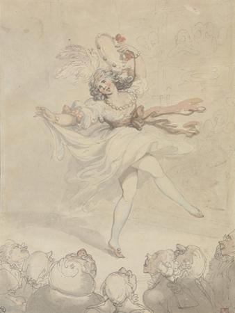 Female Dancer with a Tambourine, 1790-95 by Thomas Rowlandson