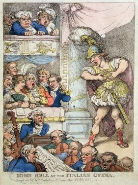 John Bull at the Italian Opera, 1811 by Thomas Rowlandson
