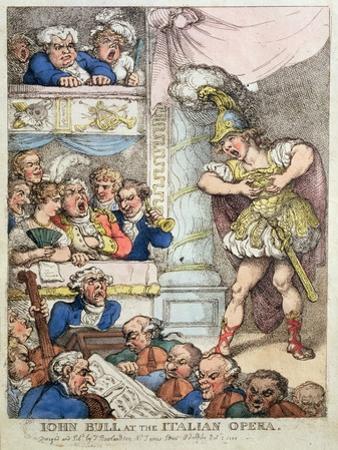 John Bull at the Italian Opera, 1811 by Thomas Rowlandson