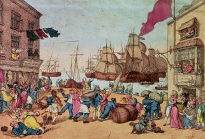 Portsmouth Point, 1811 by Thomas Rowlandson
