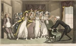 The Advertisement for a Wife by Thomas Rowlandson
