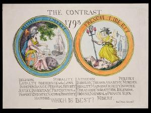 The Contrast 1793: British Liberty and French Liberty - Which Is Best? 1793 by Thomas Rowlandson