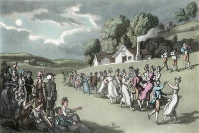 The Dance, Illustration from 'The Vicar of Wakefield' by Oliver Goldsmith, Pub. Ackermann, 1817