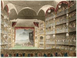 The Interior of the Theatre During a Performance of Shakespeares Coriolanus by Thomas Rowlandson