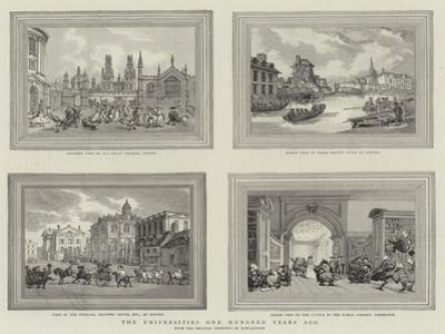 The Universities One Hundred Years Ago by Thomas Rowlandson